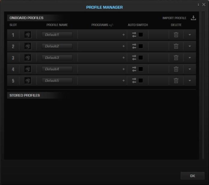 Roccat Kone Pure Ultra Swarm profile manager