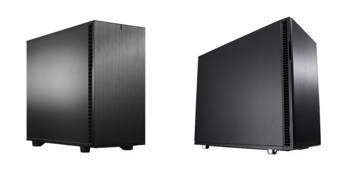 The Fractal Design Define 7 next to the Define R6. They look almost identical.