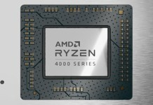 Render of an AMD Ryzen 4000 series mobile CPU like the 4900H or 4900HS