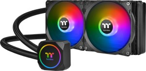 Thermaltake TH240 AIO. Pretty much the same as any AIO really.