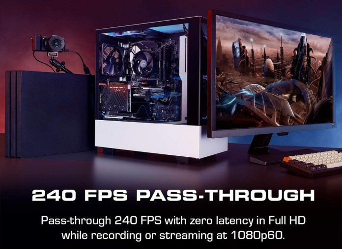 """According to AVerMedia the Live Gamer DUO dual input capture card lets you """"Pass through 240 fps with zero latency in Full HD while recording or streaming at 1080p60"""""""
