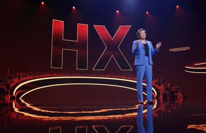 Lisa Su announcing the HX series of unlocked AMD laptop processors