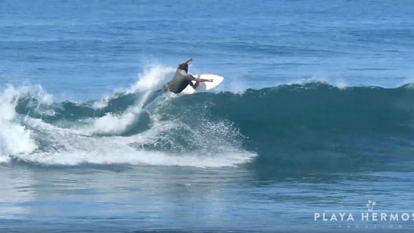 Surfing at Playa Hermosa, Costa Rica January 18, 2020