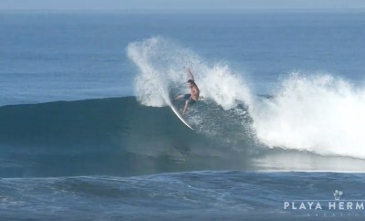 Surfing at Playa Hermosa, Costa Rica February 14, 2020