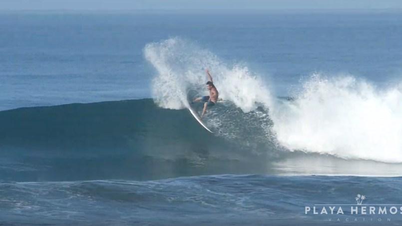 Surfing at Playa Hermosa, Costa Rica February 14, 2020
