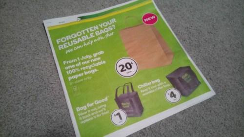 茶色の手提げ紙袋