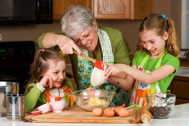 Learning to bake with Grandma