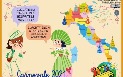 CARNEVALE: percorso interattivo e libricino delle maschere d'Italia