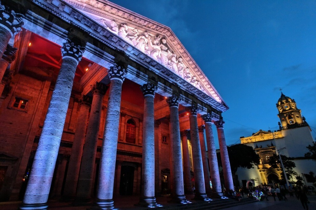 Guadalajara's most beautiful theater, the Teatro Degollado