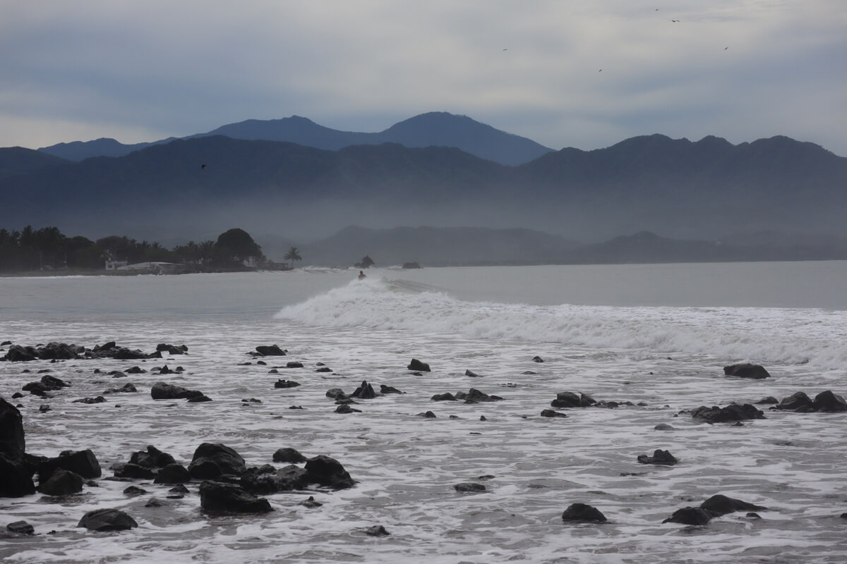 A very long wave at Las Islitas, Nayarit