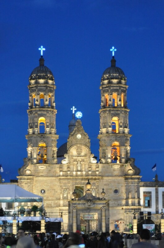 Basilica de Zapopan during the Romeria pilgrimage