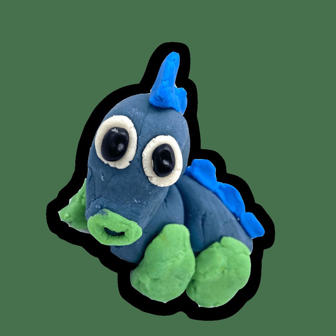playdough dinosaur