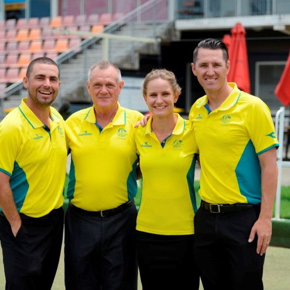 Victoria's 2018 Commonwealth Games representatives (L to R) Josh Thornton, Ken Hanson, Carla Krizanic and Barrie Lester.Photo Credit: Commonwealth Games Australia.