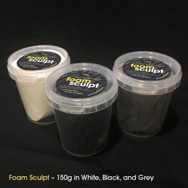 Discover Foam Sculpt: our foam clay is available in black, white, and grey!
