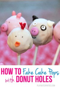 Faking Cake Pops with Donut Holes