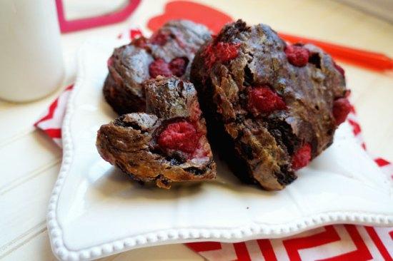 Heart Shaped Raspberry Brownies