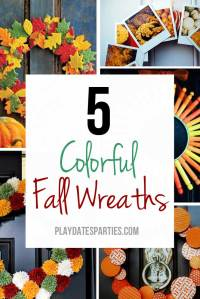 5 Clever and Colorful Fall Wreaths