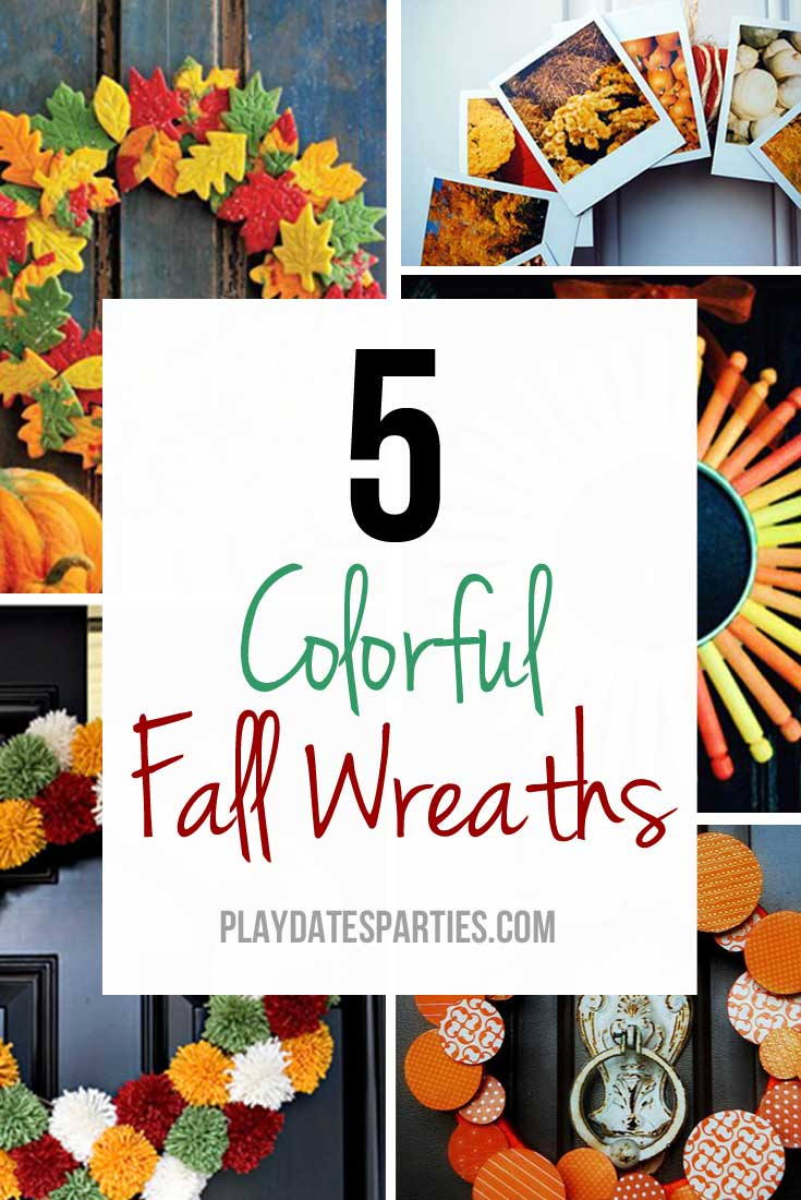 Even though the vibrant colors of summer are passed, you can still brighten your door with one of these clever and colorful fall wreaths!