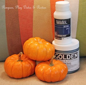 {Tutorial} Gesso Pumpkins