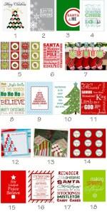 {Roundup} Free Christmas Printables