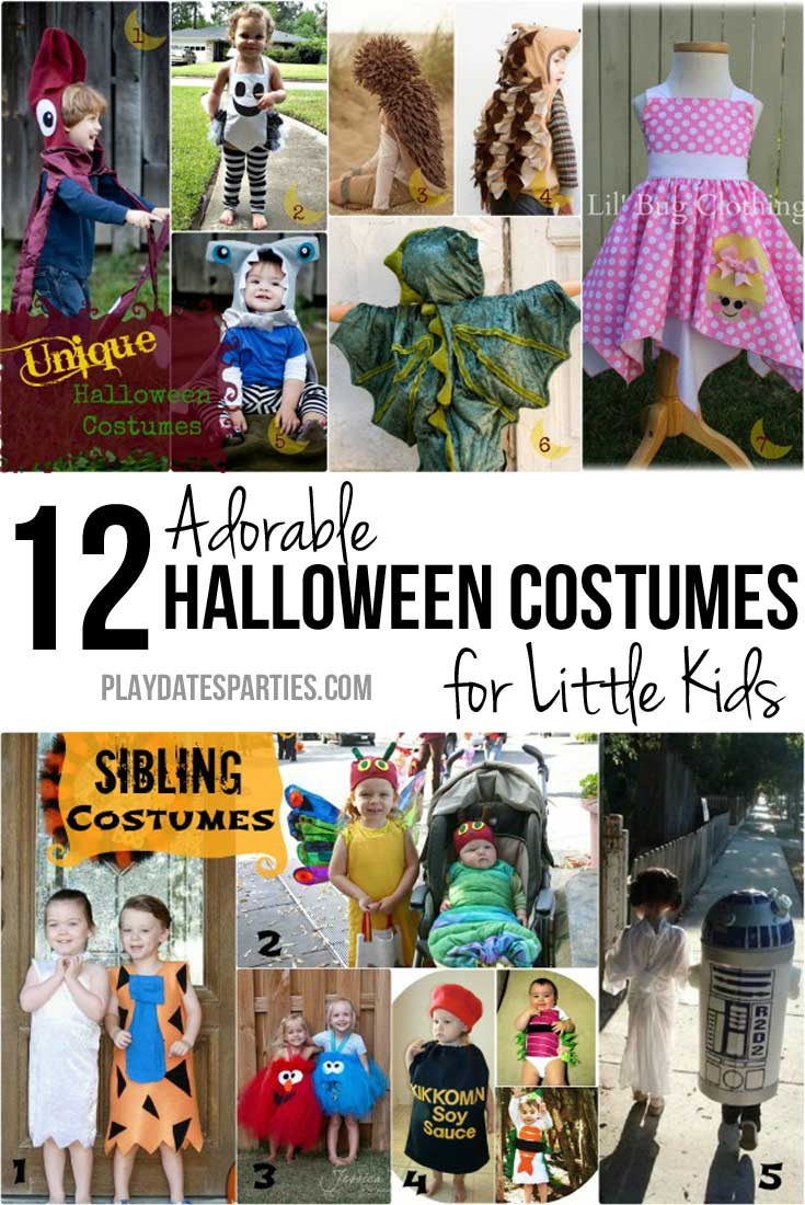 Gone are the days when everyone wore the same drugstore costumes. Take a look at these 12 adorable and unique Halloween costumes for little kids.