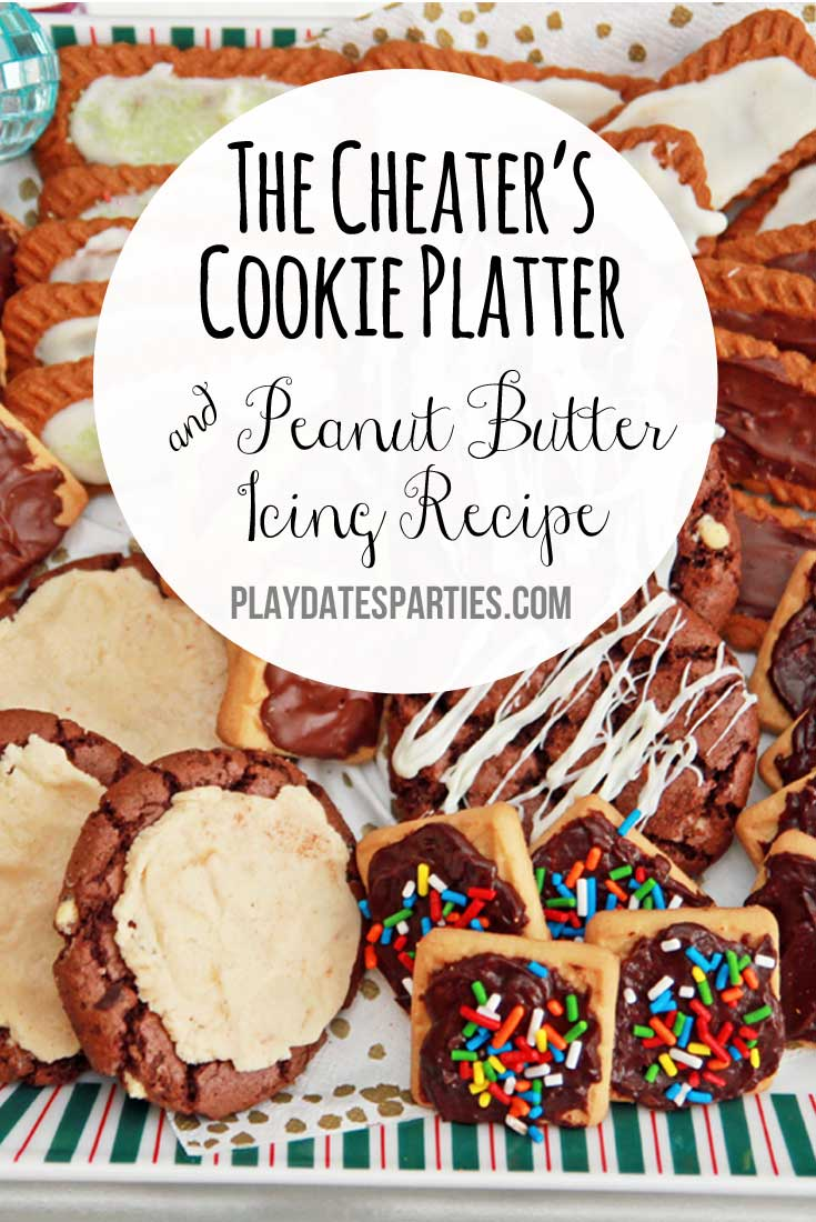 With a little bit of chocolate and this peanut butter icing recipe, you can fool your guests into thinking you spent hours baking delicious holiday cookies!