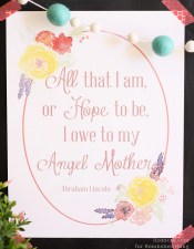 Bombshell Bling Free Mothers Day Printable Abraham Lincoln Quote