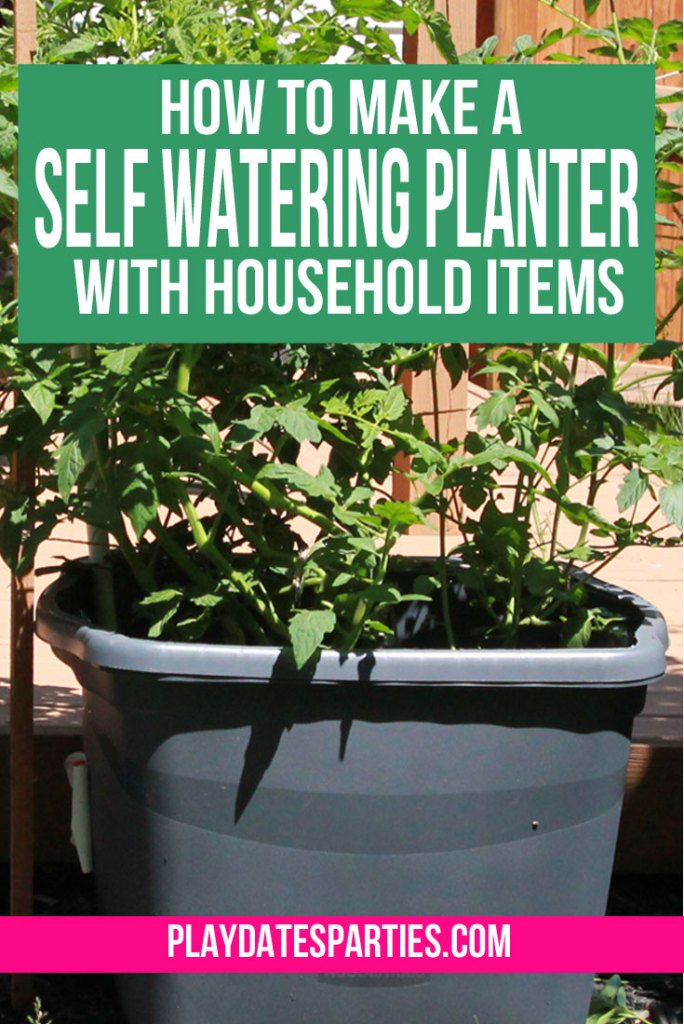 Conserve water and grow healthy vegetables by making this self-watering planter system with household items like a storage tote, and other easy-to-find materials. Best of all, you can finish it in only one afternoon.