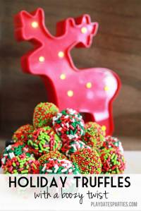 {12 Days of Holiday Candy} Holiday Truffles with a Boozy Twist