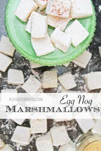 {12 Days of Holiday Candy} Eggnog Marshmallows