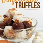{12 Days of Holiday Candy} Pumpkin Gingerbread Truffles