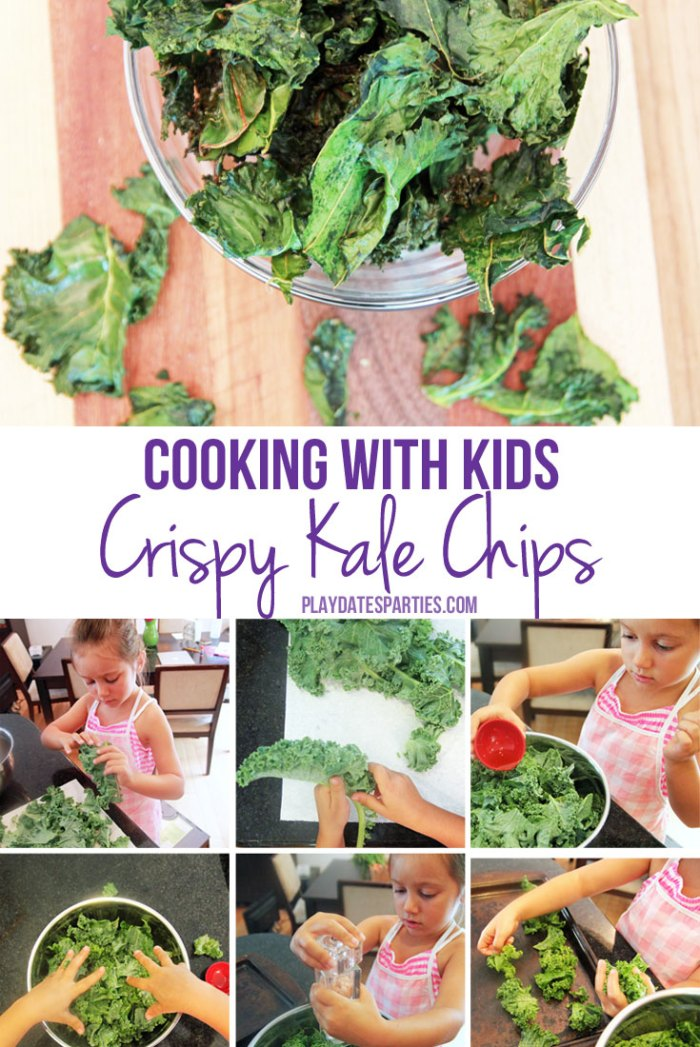 Kids can cook too! Take a look at how a trip to a local farm got one 5-year-old excited about making her own delicious crispy Kale Chips.