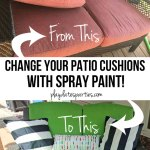 Yes, I Actually Spray Painted My Patio Cushions (ORC Week 5)