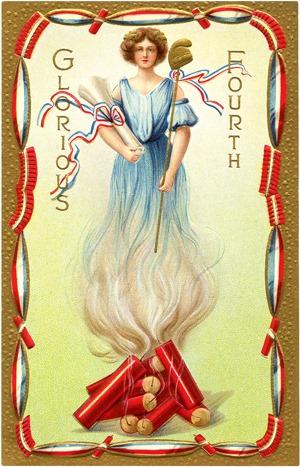 Graphics Fairy - Firecracker Lady