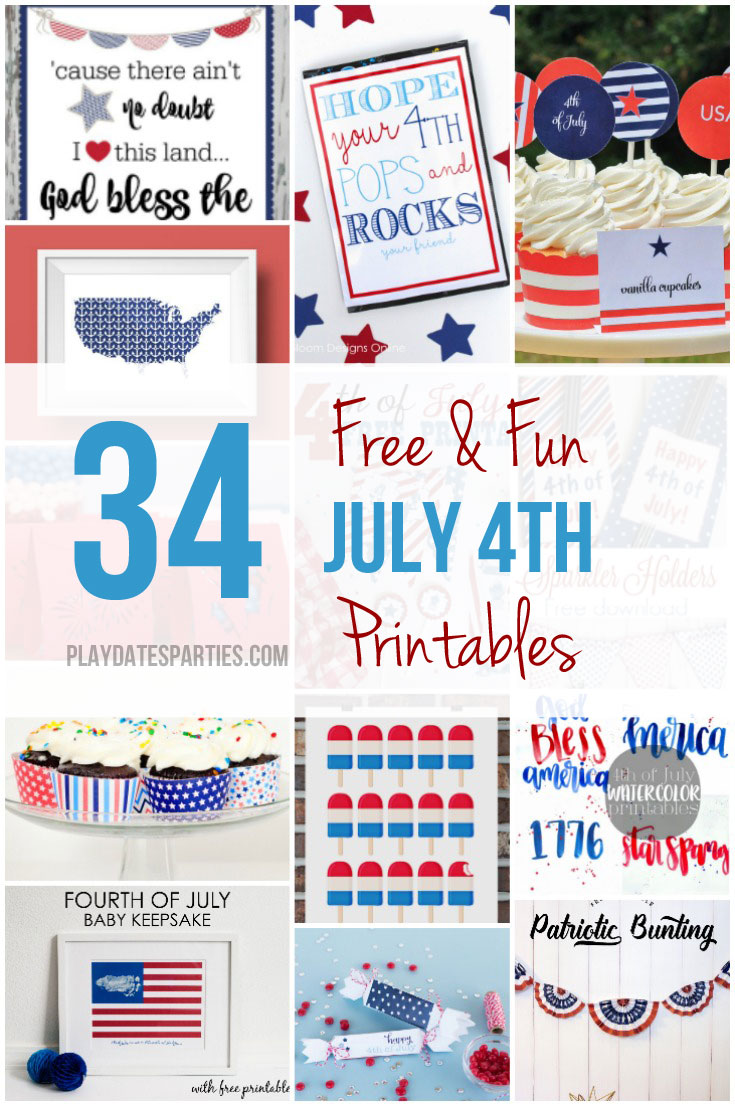 Free and Fun July 4th Printables