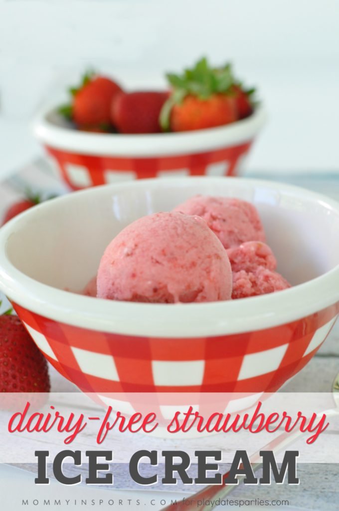 Looking for a simple, delicious, dairy-free, healthy strawberry ice cream recipe? Well you've found it! Just 4 ingredients and you'll be eating a fast frozen treat!