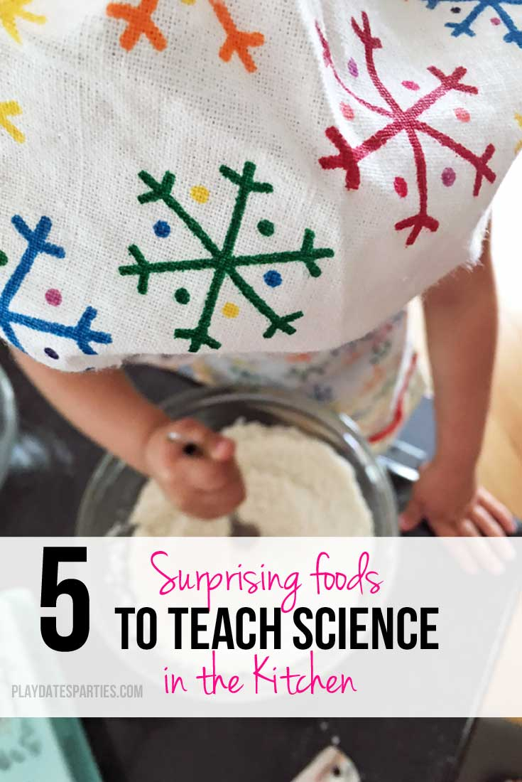 Teachable cooking moments go beyond baking! Get kids excited about learning with these 5 surprising foods that teach science in the kitchen.