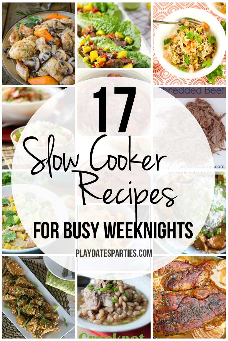 From chili to chicken wings and lettuce wraps, these 17 flavorful slow cooker dinner recipes are perfect for the weekdays when you're too busy to spend time in the kitchen.