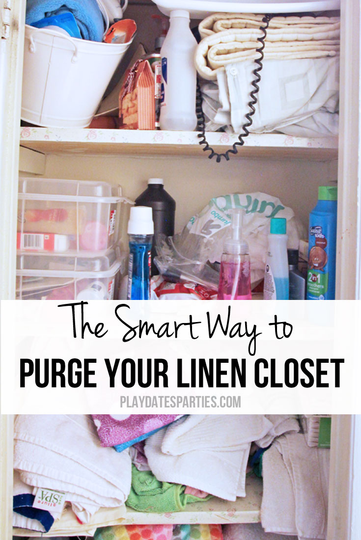 Cluttered mess on your hands? Find out the smart way to purge your linen closet and stop making the same organizing mistakes over and over again.