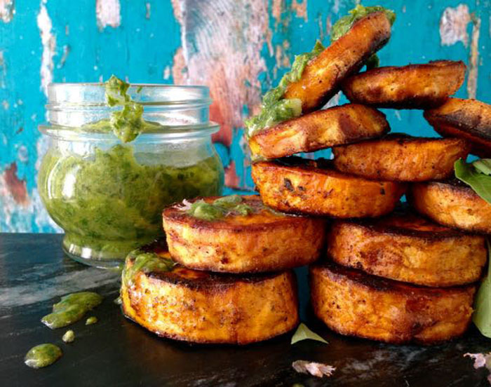 ciao-florentina-baked-sweet-potato-rounds-with-chimichurri-sauce