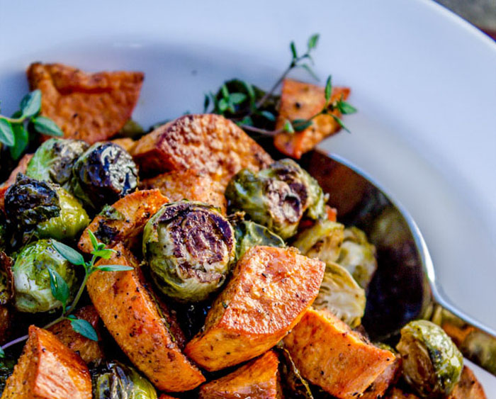 the-food-charlatan-roasted-sweet-potatoes-and-brussel-sprouts