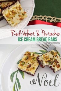 Red Velvet and Pistachio Ice Cream Bread Bars