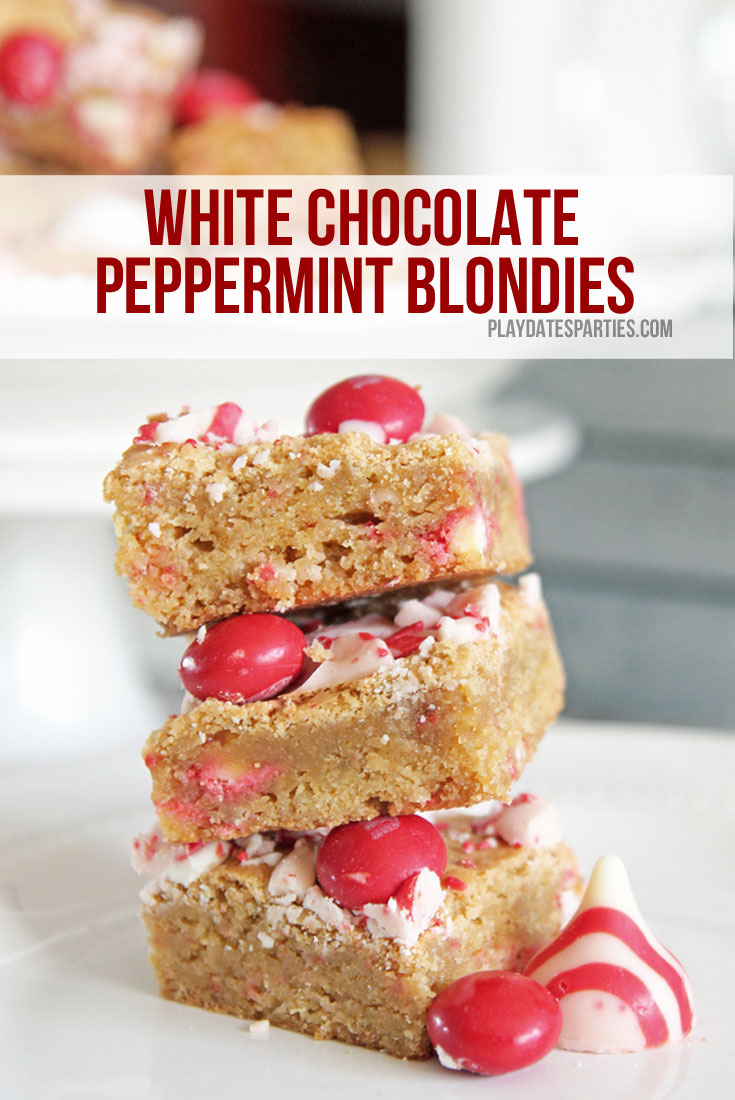 White chocolate peppermint blondies are a must-make holiday treat, with the perfect balance of peppermint flavor and dense, chewy texture.