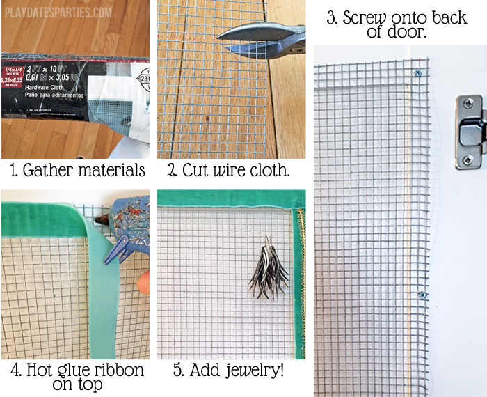Step by step instructions for making a hidden jewelry organizer