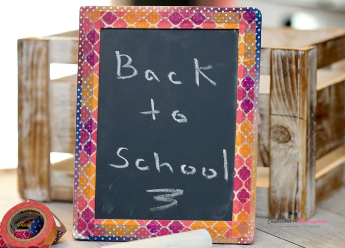 DIY Back-to-School Chalk Board by Confessions of a Mommyaholic