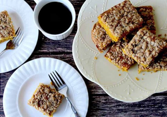 Pumpkin Pie Spiced Coffee Cake by Delicious Little Bites