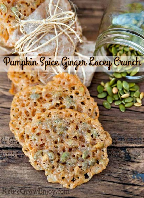Pumpkin Spice Ginger Lacey Cookiesby Reuse Grow Enjoy