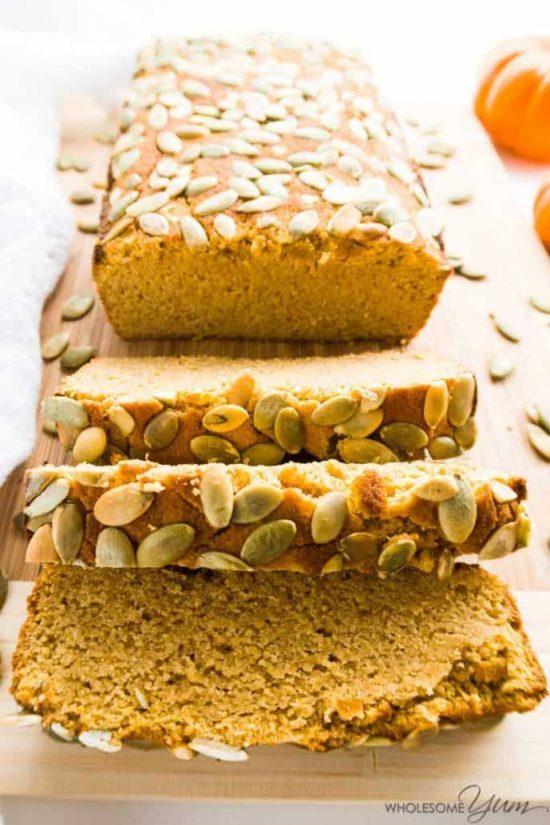 Low Carb/Paleo Pumpkin Breadby Wholesome Yum