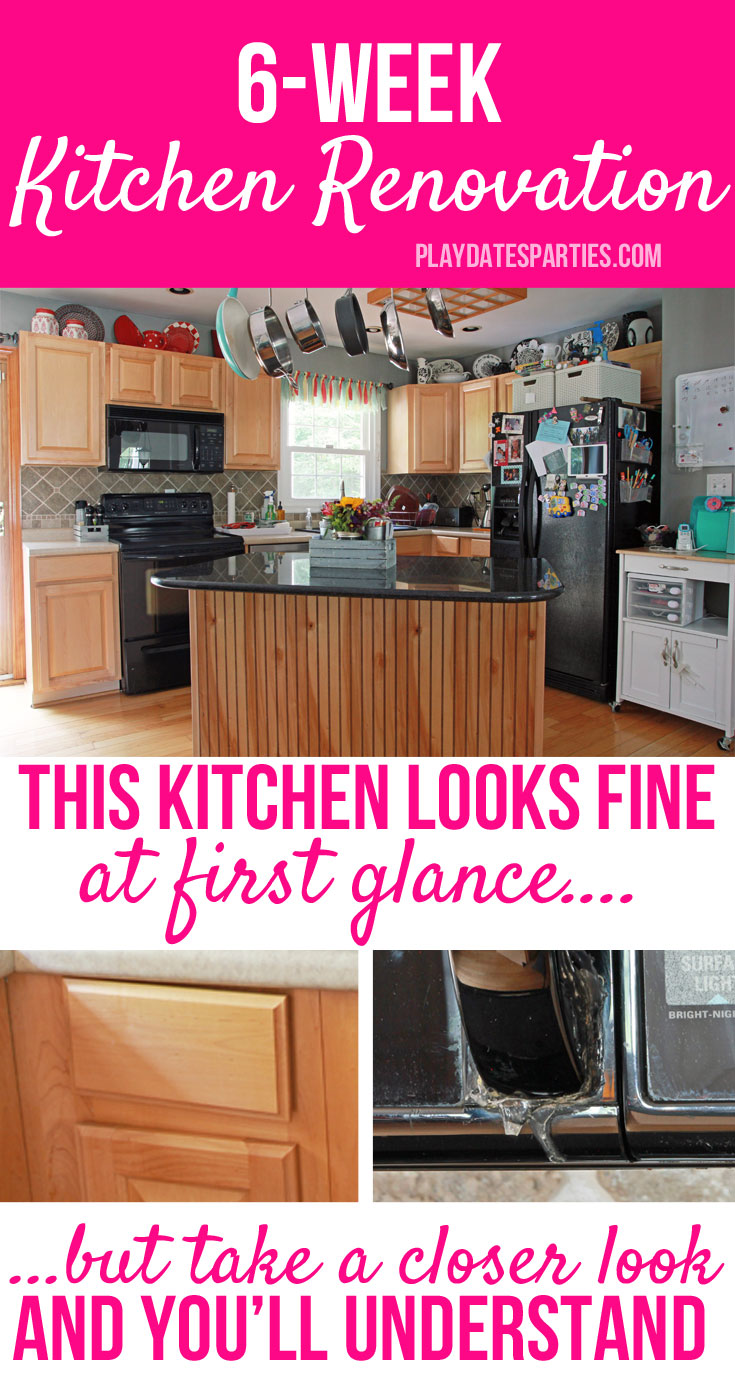 Can a #kitchen be gutted and replaced in only 6 weeks? Why would anyone do that anyway? Find out why we're in this situation and see all the gory #before pictures as we take on a 42 day #renovation challenge! #oneroomchallenge