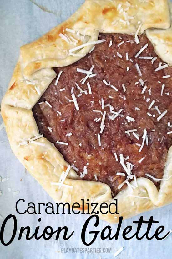 Appetizers for a Fall Party: Caramelized Onion Galette by From Play Dates to Parties